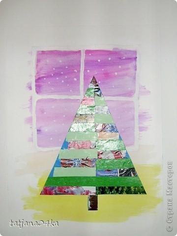 Ах, сколько можно сделать изумительных картин при  помощи цветной бумаги и журнальных страничек фото 7