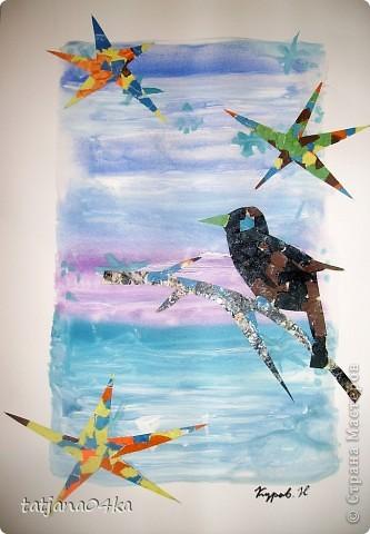 Ах, сколько можно сделать изумительных картин при  помощи цветной бумаги и журнальных страничек фото 9