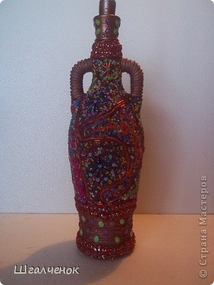 Бутылочка бисерная. фото 2