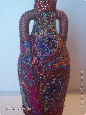 Бутылочка бисерная. фото 3