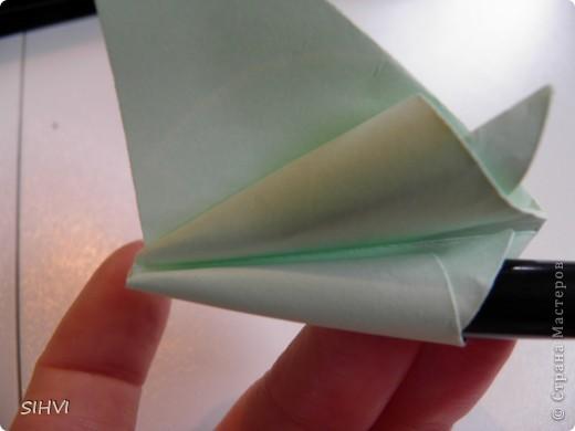 Мастер класс *Origami Aquilegia flower* фото 14
