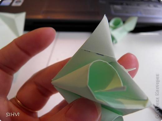 Мастер класс *Origami Aquilegia flower* фото 15