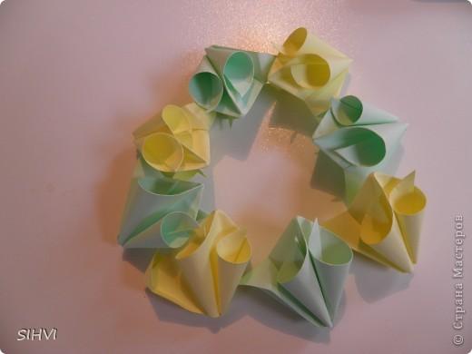 Мастер класс *Origami Aquilegia flower* фото 17