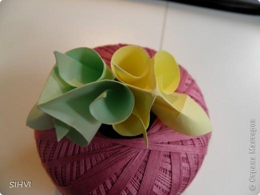 Мастер класс *Origami Aquilegia flower* фото 18