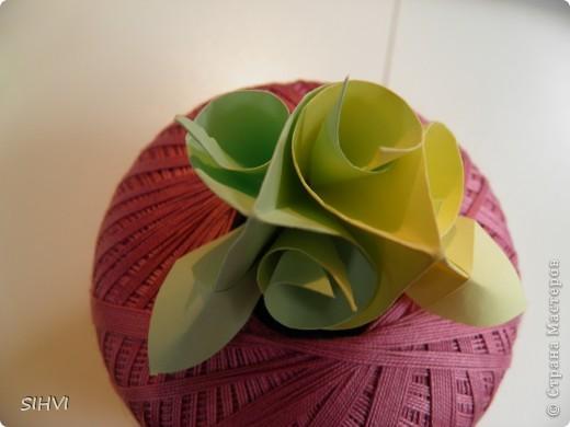 Мастер класс *Origami Aquilegia flower* фото 19