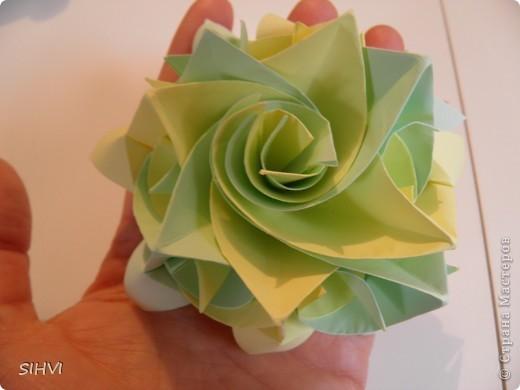 Мастер класс *Origami Aquilegia flower* фото 22