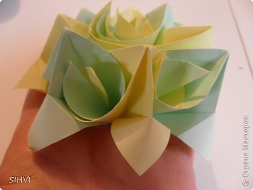 Мастер класс *Origami Aquilegia flower* фото 23