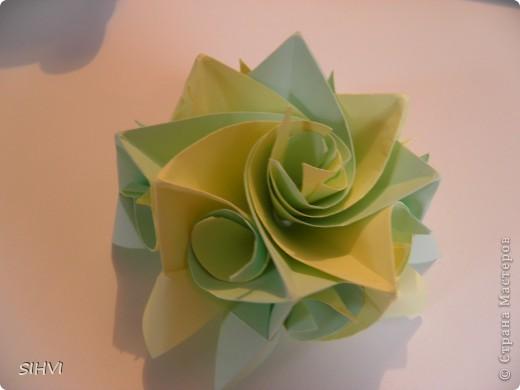 Мастер класс *Origami Aquilegia flower* фото 24