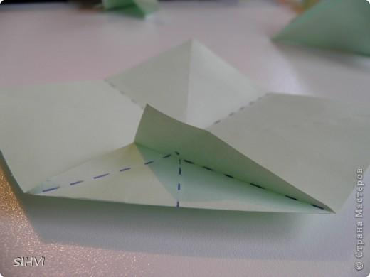 Мастер класс *Origami Aquilegia flower* фото 8