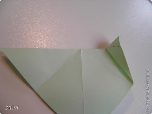 Мастер класс *Origami Aquilegia flower* фото 10