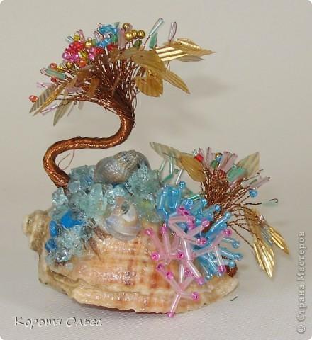 Плетение - Водоросли из бисера и стекляруса.