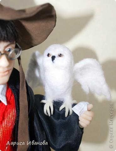 Я Вам признаюсь, что очень люблю читать книги писательницы Дж. К. Роулинг о Гарри Поттере))). Но эту куклу делала не для себя, а для сына своей кумы - он очень большой поклонник этого персонажа. Гарри переедет к нему жить на День Рождения) фото 6