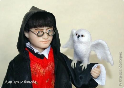 Я Вам признаюсь, что очень люблю читать книги писательницы Дж. К. Роулинг о Гарри Поттере))). Но эту куклу делала не для себя, а для сына своей кумы - он очень большой поклонник этого персонажа. Гарри переедет к нему жить на День Рождения) фото 9