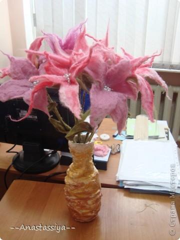 Цветы из шерсти. Результат открытого занятия фото 1