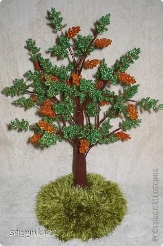 Первая пробная работа - бисерное дерево фото 1