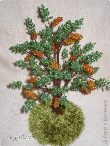 Первая пробная работа - бисерное дерево фото 3