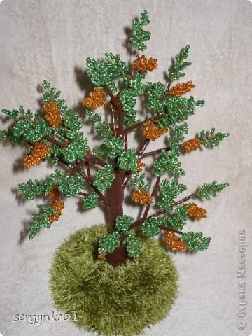 Первая пробная работа - бисерное дерево фото 4