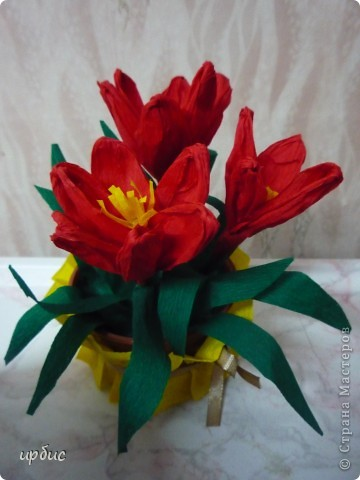 Крокусы для мамы. Сделаны по МК http://stranamasterov.ru/technics/flowers22-23.html. фото 4