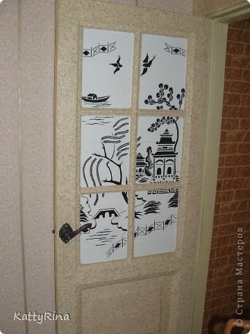 Вот такая у нас дверь на кухню!  фото 1