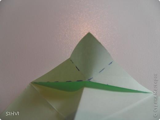 Мастер класс *Origami Aquilegia flower* фото 9
