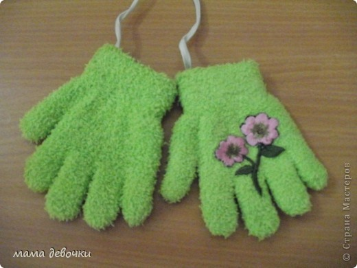 вот такие перчаточки получились фото 2