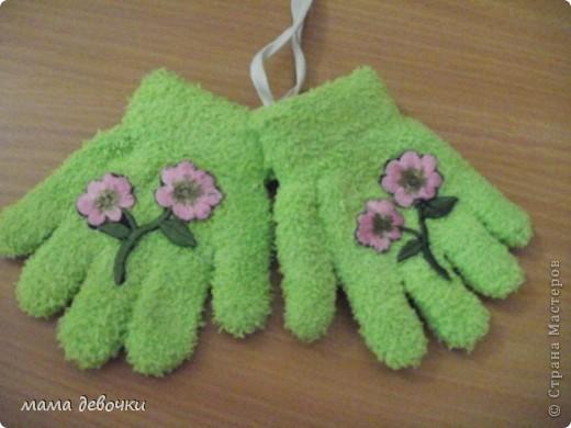 вот такие перчаточки получились фото 1