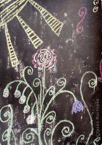 Вот уже полгода, как Анюта посещает художественную школу. Хочу представить всем заглянувшим небольшой фотоотчет.  Все работы А3 формата. Техники две - живопись и графика. Тигренок в траве. Гуашь. фото 13