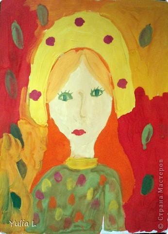 Вот уже полгода, как Анюта посещает художественную школу. Хочу представить всем заглянувшим небольшой фотоотчет.  Все работы А3 формата. Техники две - живопись и графика. Тигренок в траве. Гуашь. фото 8