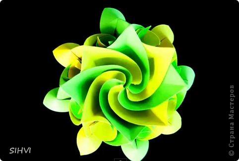 Мастер класс *Origami Aquilegia flower* фото 1