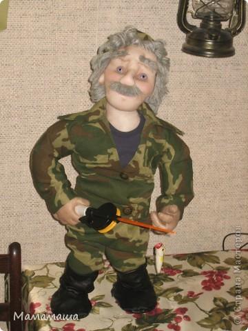 У моего бывшего директора юбилей. Решила попробовать сделать портретную куклу фото 1