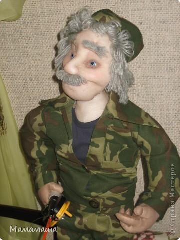 У моего бывшего директора юбилей. Решила попробовать сделать портретную куклу фото 2