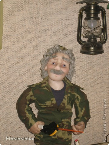 У моего бывшего директора юбилей. Решила попробовать сделать портретную куклу фото 5