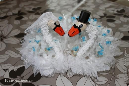 Вот такие лебеди у меня получились на 40-летнию годовщину свадьбы для дяди и тети фото 1