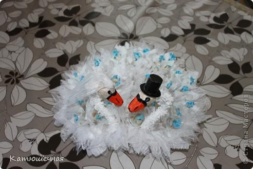 Вот такие лебеди у меня получились на 40-летнию годовщину свадьбы для дяди и тети фото 2