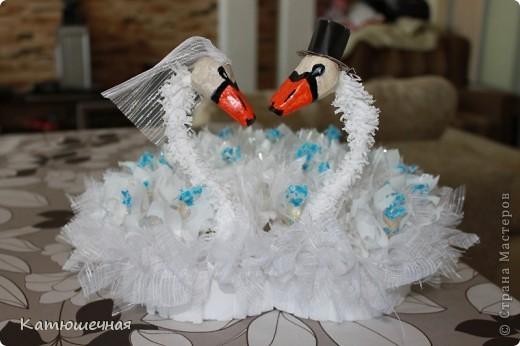 Вот такие лебеди у меня получились на 40-летнию годовщину свадьбы для дяди и тети фото 3