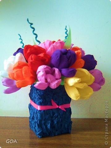 Яркий красочный весенний букетик. фото 1