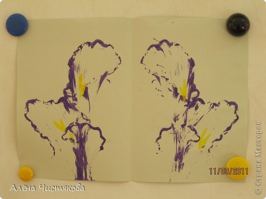 Рисование ниткой с малышами фото 1