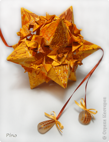 Кусудама Whipped Cream, вариация - Star with Spirals. Автор - M. Mukerji фото 2