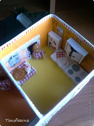 Макет кухни своими руками из картона фото