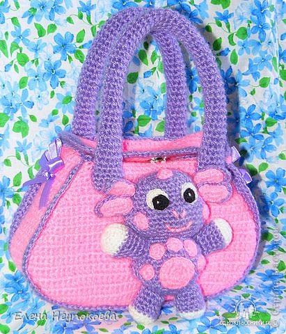 Вязаная сумочка-Лунтик фото 1