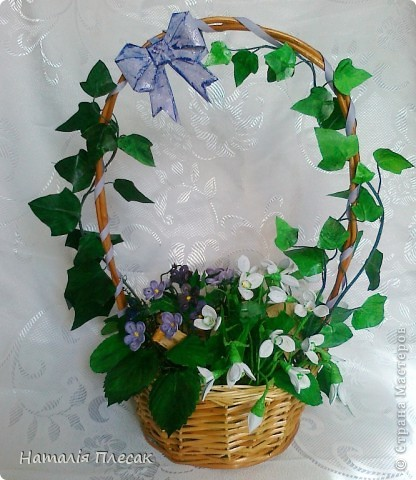Еще одна корзинка с весенними цветами в моей колекции. фото 1