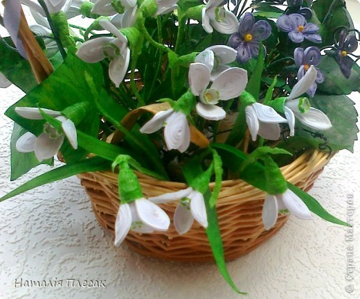 Еще одна корзинка с весенними цветами в моей колекции. фото 3