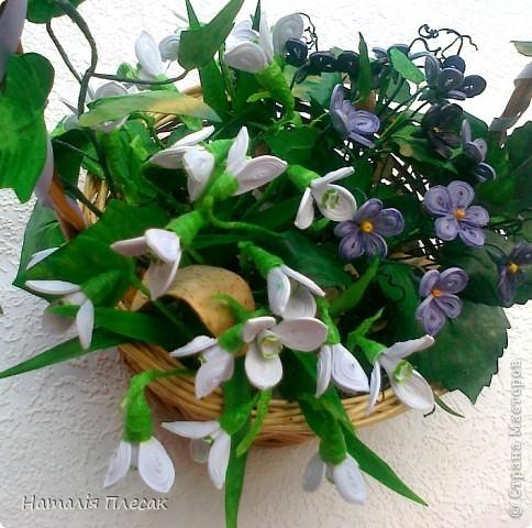Еще одна корзинка с весенними цветами в моей колекции. фото 2