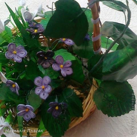 Еще одна корзинка с весенними цветами в моей колекции. фото 5