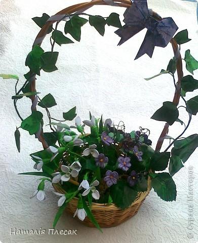 Еще одна корзинка с весенними цветами в моей колекции. фото 7