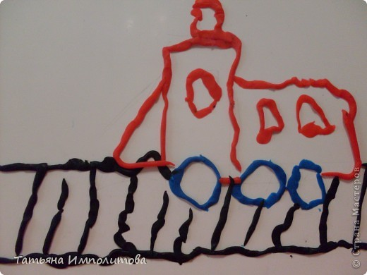 Эта ракета,сделанная Ларисочкой,долго красовалась на главной странице сайта,я всё присматривалась к ней,думала,что мы не осилим,но как говорится глаза боятся,а руки делают.Это подарок для папы,я уже писала,что он у нас служил на Байконуре фото 12