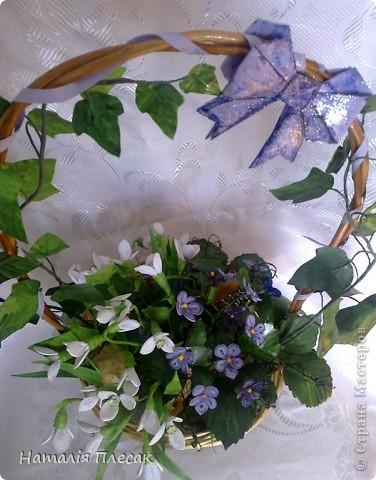 Еще одна корзинка с весенними цветами в моей колекции. фото 6