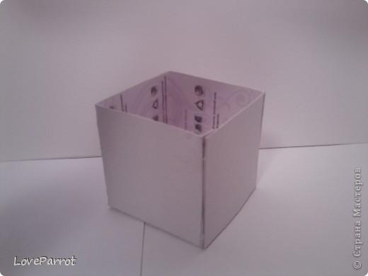 У меня было много картона и я решила сделать  вот такую весеннюю коробочку. фото 2