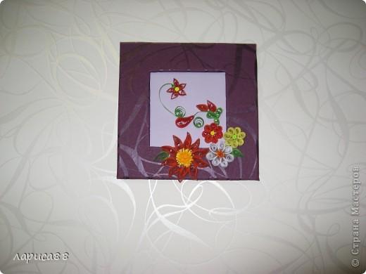 Еще рамки с цветами в технике квиллинг. фото 2
