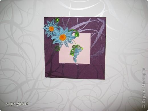 Еще рамки с цветами в технике квиллинг. фото 1